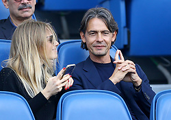 October 7, 2018 - Rome, Italy - SS Lazio v ACF Fiorentina - Serie A .Bologna manager Filippo Inzaghi brother of the Lazio manager Simone in the stands at Olimpico Stadium in Rome, Italy on October 7, 2018. (Credit Image: © Matteo Ciambelli/NurPhoto/ZUMA Press)