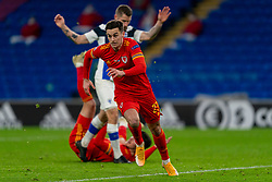 CARDIFF, WALES - Wednesday, November 18, 2020: Wales' Tom Lawrence during the UEFA Nations League Group Stage League B Group 4 match between Wales and Finland at the Cardiff City Stadium. Wales won 3-1 and finished top of Group 4, winning promotion to League A. (Pic by David Rawcliffe/Propaganda)