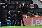 AFC Bournemouth manager Jason Tindall gestures during the EFL Sky Bet Championship match between Bournemouth and Nottingham Forest at the Vitality Stadium, Bournemouth, England on 24 November 2020.