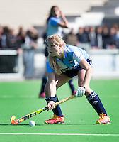 AMSTELVEEN - HOCKEY - Sabine van Silfhout van Hurley  tijdens de hoofdklasse hockeywedstrijd tussen de vrouwen van Hurley en Oranje-Zwart.  COPYRIGHT KOEN SUYK