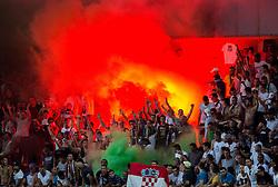 Torcida, fans of Hajduk during First Leg football match between FC Luka Koper and HNK Hajduk Split (CRO) in Second qualifying round of UEFA Europa League, on July 16, 2015 in Stadium Bonifika, Koper, Slovenia. Photo by Vid Ponikvar / Sportida