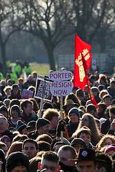 "© under license to London News Pictures. 21/2/2011: Aaron Porter, the president of the National Union of Students, is to step down following a barrage of attacks from within the student movement. At a demonstration in Manchester on 29th January 2011 police had to lead him to safety after protesters rounded on him. Photo credit should read ""Joel Goodman/London News Pictures""."