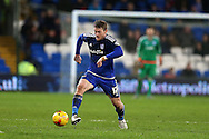 Aron Gunnarsson of Cardiff city in action. Skybet football league championship match, Cardiff city v Blackburn Rovers at the Cardiff city stadium in Cardiff, South Wales on Saturday 2nd Jan 2016.<br /> pic by Andrew Orchard, Andrew Orchard sports photography.