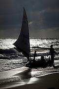 Canoa Quebrada_CE, Brasil...Praia de Canoa Quebrada, no Ceara. Cotidiano de pescadores da regiao...Canoa Quebrada beach, Ceara. In this photo fishermen in the beach...Foto: BRUNO MAGALHAES / NITRO