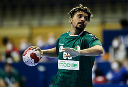 Walid Badi of Algeria during handball match between National Teams of Algeria and Germany at Day 3 of IHF Men's Tokyo Olympic  Qualification tournament, on March 14, 2021 in Max-Schmeling-Halle, Berlin, Germany. Photo by Vid Ponikvar / Sportida