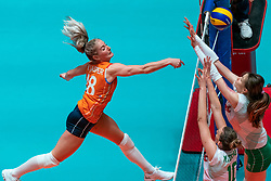 29-05-2019 NED: Volleyball Nations League Netherlands - Bulgaria, Apeldoorn<br /> Marrit Jasper #18 of Netherlands