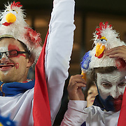 French fans dress for the occasion during the New Zealand V France, Pool A match during the IRB Rugby World Cup tournament. Eden Park, Auckland, New Zealand, 24th September 2011. Photo Tim Clayton....