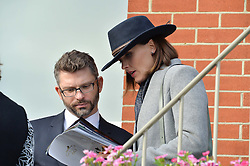 NEWBURY, ENGLAND 26TH NOVEMBER 2016: Victoria Pendleton and Scott Gardner at Hennessy Gold Cup meeting Newbury racecourse Newbury England. 26th November 2016. Photo by Dominic O'Neill