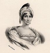 Marie Letizia Bonaparte (c1749-1836) Mother of the French emperor Napoleon I. In May 1804 she was given the official status of 'Madame Mere de l'Empereur'. Lithograph c1830.