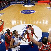 Anadolu Efes's Zoran Planinic (R) during their BEKO Basketball League match Anadolu Efes between Banvit at Abdi Ipekci Arena in Istanbul Turkey on Sunday 05 January 2014. Photo by TURKPIX