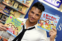 © Licensed to London News Pictures. 07/09/2011 Greenhithe, Kent, UK. Peter Andre at WH Smiths in Bluewater, Kent Today (07/09/2011) to sign copies of his new children's books 'The Happy Birthday Party' and 'A New Day At School' .Photo credit : Grant Falvey/LNP