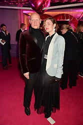 CAMILLA RUTHERFORD and DOMINIC BURNS at The Naked Heart Foundation's Fabulous Fund Fair hosted by Natalia Vodianova and Karlie Kloss at Old Billingsgate Market, 1 Old Billingsgate Walk, London on 20th February 2016.
