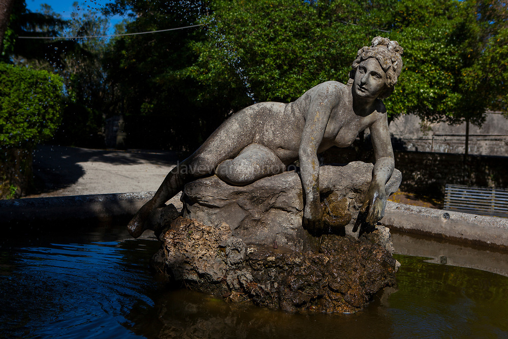 Statue of the goddess Venus in the Giardino del Balio Erice