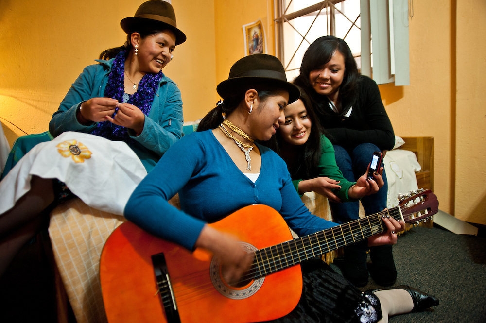 For the first time, dormitory rooms have been provided for Indigenous students in Ecuador.  Students come from cultures in the Amazon and in the Andes to study.