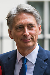 Downing Street, London, September 15th 2015.  Foreign Secretary Philip Hammond leaves 10 Downing Street after attending the weekly cabinet meeting