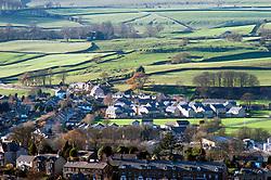 New housing built on edge of Settle; rural Yorkshire Dales UK