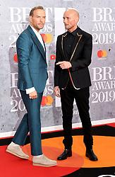 February 21, 2019 - London, London, United Kingdom - Image licensed to i-Images Picture Agency. 20/02/2019. London, United Kingdom.Matt and Luke Goss at the Brit Awards in London. (Credit Image: © i-Images via ZUMA Press)