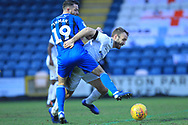 Bradden Inman makes a challenge during the EFL Sky Bet League 1 match between Rochdale and Coventry City at Spotland, Rochdale, England on 9 February 2019.