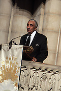 6 January 2010- New York,  NY- Congressman Charles Rangel at the Percy Ellis Sutton Funeral held at The Riverside Church on January 6, 2010 in New York City. Photo Credit: Terrence Jennings/Sipa
