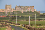 A general view of one of the most important Anglo-Saxon archaeological sites in the world is the Bamburgh Castle pictured from its outskirts on Wednesday, March 17, 2021. The museum houses a collection of extraordinary finds including the intricate, gold Bamburgh Beast and a rare pattern-welded sword, reinforcing Bamburgh's importance as an Anglo-Saxon citadel. (Photo/ Vudi Xhymshiti)