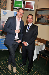 Left to right, WILL GREENWOOD and PETER PHILLIPS at a reception for The Mirela Fund in partnership with Hope and Homes for Children hosted by Natalie Pinkham in The Churchill Room, House of Commons, London on 30th April 2013.