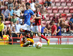 Bristol City's Wes Burns fires wide - Photo mandatory by-line: Joe Meredith/JMP - Tel: Mobile: 07966 386802 13/07/2013 - SPORT - FOOTBALL - Bristol -  Bristol City v Glasgow Rangers - Pre Season Friendly - Bristol - Ashton Gate Stadium