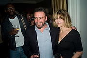 ANTHONY SHER AND JULIE CHRISTIE,  'Cries from the Heart' presented by Human Rights Watch at the Theatre Royal Haymarket. London. Party afterwards at the Haymarket Hotel. June 8, 2008 *** Local Caption *** -DO NOT ARCHIVE-© Copyright Photograph by Dafydd Jones. 248 Clapham Rd. London SW9 0PZ. Tel 0207 820 0771. www.dafjones.com.
