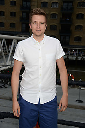 The Johnnie Walker Gold Label Reserve Party aboard John Walker & Sons Voyager, St.Georges Stairs Tier, Butler's Wharf Pier, London, UK on 17th July 2013.<br /> Picture Shows:-Greg James.