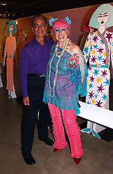DAVID SASSOON and ZANDRA RHODES at a party to celebrate the opening of an exhibition by Daisy de Villeneuve at the Fashion and Textile Museum, Bermondsey Street, London SE1 on 25th June 2004.