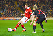 Mike-Steven Bahre of Barnsley (21) passes the ball during the EFL Sky Bet League 1 match between Barnsley and Sunderland at Oakwell, Barnsley, England on 12 March 2019.