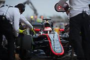 February 19-22, 2015: Formula 1 Pre-season testing Barcelona : Jenson Button (GBR), McLaren Honda, pitstop