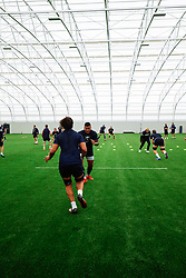 Chris Vui and Nathan Hughes as Bristol Bears start to use their new almost completed Training centre - Rogan/JMP - 08/07/2020 - RUGBY UNION - Beggar Bush Lane - Bristol, England.