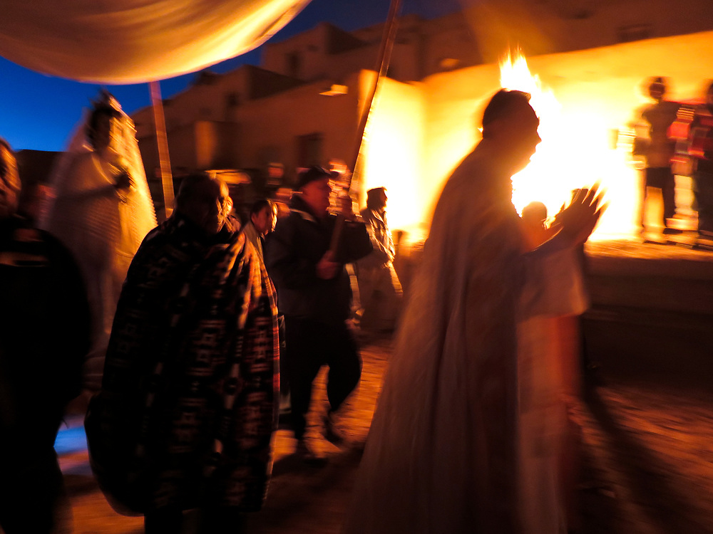 Christmas Eve Procession of the Virgin Mary, Taos Pueblo, Taos, New Mexico