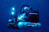 A Deep Woker Heads Down to the ocean floor. Flower Gardens Bank National Marine Sanctuary. Gulf of Mexico