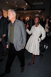 Private View of the Pavilion of Art & Design London 2010 held in Berkeley Square, London on 11th October 2010.<br /> Picture Shows:- Shala Monroque and LARRY GAGOSIAN
