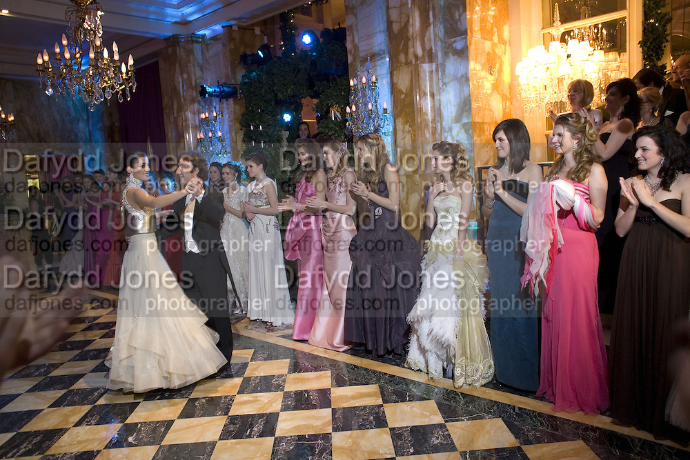 STEPHANE BERN AND MARIA ABOU NADER LEAD DANCING , Crillon Debutante Ball 2007,  Crillon Hotel Paris. 24 November 2007. -DO NOT ARCHIVE-© Copyright Photograph by Dafydd Jones. 248 Clapham Rd. London SW9 0PZ. Tel 0207 820 0771. www.dafjones.com.