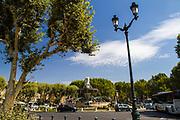 The Fontaine de la Rotonde in Aix-en-Provence, France
