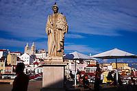 Portugal, Lisbonne, quartier de l'Alfama et le Tage, belvédère de Santa Luzia // Portugal, Lisbon, Alfama from Santa Luzia belvedere