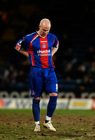 Photo: Daniel Hambury.<br />Crystal Palace v Preston North End. The FA Cup. 07/02/2006.<br />Palace's Andrew Johnson shows his dejection as his side crash out of the FA Cup.