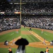 Jose Altuve, Houston Astros, batting during the New York Yankees Vs Houston Astros, Wildcard game at Yankee Stadium, The Bronx, New York. 6th October 2015 Photo Tim Clayton for The Players Tribune