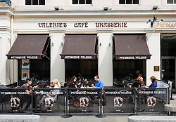 Valerie's Cafe and Brasserie in Royal Exchange Square in central Glasgow, Scotland, United Kingdom
