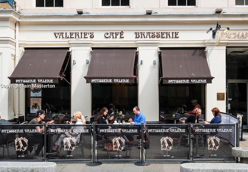 Valerie's Cafe and Brasserie in Royal Exchange Square in central Glasgow, Scotland, United Kingdom