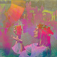 Juice priestess offering the light of healing plant energies.