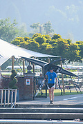 Henley-On-Thames, Berkshire, UK., Wednesday,  12/08/2020,  Athletes, Crews boating from Leander Club for training,  [ Mandatory Credit © Peter Spurrier/Intersport Images], , Training during, the  coronavirus (COVID-19), pandemic,