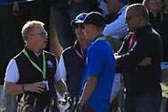 Keith Pelley (CEO European Tour) on the 10th tee during Saturday Foursomes at the Ryder Cup, Le Golf National, Ile-de-France, France. 29/09/2018.<br /> Picture Thos Caffrey / Golffile.ie<br /> <br /> All photo usage must carry mandatory copyright credit (© Golffile | Thos Caffrey)