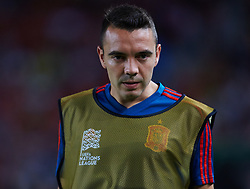 September 11, 2018 - Elche, Alicante, Spain - Iago Aspas of Spain looks on during the UEFA Nations League football match between Spain and Croatia at Martinez Valero Stadium in Elche on September 11, 2018  (Credit Image: © Sergio Lopez/NurPhoto/ZUMA Press)
