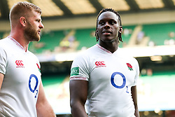 George Kruis and Maro Itoje after England win 57-15 - Rogan/JMP - 24/08/2019 - RUGBY UNION - Twickenham Stadium - London, England - England v Ireland - Quilter Series.