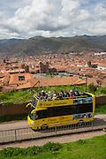 Double deck bus tour, Cusco; Urubamba Province; Peru