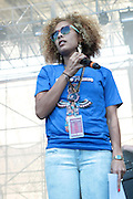 """June 2, 2012- Philadelphia, PA, United States: Media Personality/DJ/Actress Amanda Seales attend the 5th Annual ROOTS Picnic held at Festival Pier at Penn's Landing in Philadelphia, PA . The Roots is an American hip hop/neo soul band formed in 1987 by Tariq """"Black Thought"""" Trotter and Ahmir """"Questlove"""" Thompson in Philadelphia, Pennsylvania. They are known for a jazzy, eclectic approach to hip hop which includes live instrumentals. (Photo by Terrence Jennings)"""