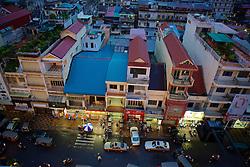 Phnom Penh Apartment Building at Dusk